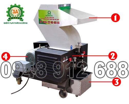 Máy nghiền nhựa tái chế 3A5,5Kw, Máy xay nhựa phế liệu 3A